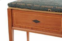 Edwardian Inlaid Walnut Piano Music Stool / Dressing Table Stool (7 of 10)