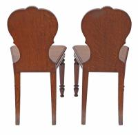 Pair of Quality Victorian Oak Hall Chairs Side Bedroom (2 of 7)