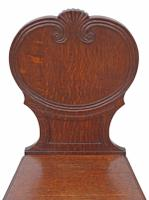 Pair of Quality Victorian Oak Hall Chairs Side Bedroom (7 of 7)