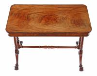 Victorian Flame Mahogany Stretcher Centre Table (2 of 9)