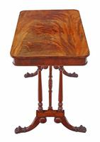 Victorian Flame Mahogany Stretcher Centre Table (4 of 9)