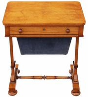 William IV Birdseye Maple Work / Sewing Box or Table C.1835