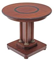 Quality Art Deco Mahogany Centre Table / Window Table / Side Table / Lamp Table / Supper Table / Pedestal c.1920
