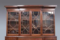 Antique Victorian Mahogany Breakfront Bookcase (2 of 3)