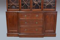 Antique Victorian Mahogany Breakfront Bookcase (3 of 3)