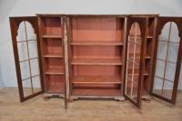 Walnut Queen Anne Style Breakfront Bookcase c.1900 (2 of 3)