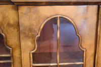 Walnut Queen Anne Style Breakfront Bookcase c.1900 (3 of 3)