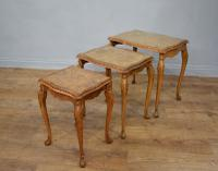 Queen Anne Style Burr Walnut Nest of Tables c.1930 (2 of 5)