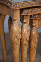 Queen Anne Style Burr Walnut Nest of Tables c.1930 (4 of 5)