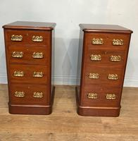 Pair of Victorian Mahogany Bedside Chests of Drawers