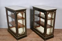 Pair of Victorian Brass Inlaid Pier Cabinet (6 of 8)