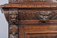 Carved Oak Green Man Bookcase c.1890 (8 of 9)