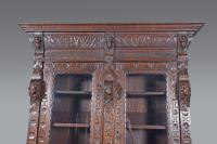 Carved Oak Green Man Bookcase c.1890 (3 of 9)