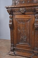 Carved Oak Green Man Bookcase c.1890 (9 of 9)