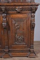 Carved Oak Green Man Bookcase c.1890 (5 of 9)