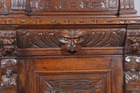 Carved Oak Green Man Bookcase c.1890 (6 of 9)