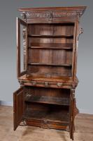 Carved Oak Green Man Bookcase c.1890 (2 of 9)