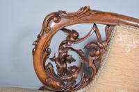 Fine Victorian Walnut Chaise Longue (5 of 8)