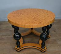 Art Deco Satin Birch Circular Coffee Table (3 of 3)