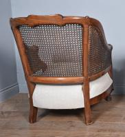 Antique Carved Walnut Bergere Suite Sofa Pair of Chairs (7 of 11)