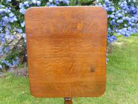 Country Oak Tilt Top Wine Table 1790 (Free Shipping to Mainland England) (8 of 8)