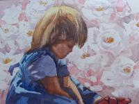 Large Watercolour Portrait Listed South African Artist Lucy M Wiles (Free Shipping to Mainland England) (3 of 8)