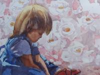 Large Watercolour Portrait Listed South African Artist Lucy M Wiles (Free Shipping to Mainland England) (6 of 8)