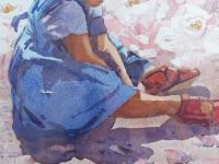 Large Watercolour Portrait Listed South African Artist Lucy M Wiles (Free Shipping to Mainland England) (7 of 8)