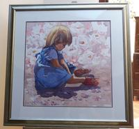 Large Watercolour Portrait Listed South African Artist Lucy M Wiles (Free Shipping to Mainland England)