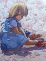 Large Watercolour Portrait Listed South African Artist Lucy M Wiles (Free Shipping to Mainland England) (8 of 8)