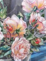 Watercolour Pink Roses Listed Artist Donald Greig FRSA RSMA (Free Shipping to Mainland England) (4 of 7)