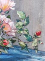 Watercolour Pink Roses Listed Artist Donald Greig FRSA RSMA (Free Shipping to Mainland England) (5 of 7)