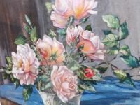 Watercolour Pink Roses Listed Artist Donald Greig FRSA RSMA (Free Shipping to Mainland England) (3 of 7)
