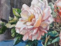 Watercolour Pink Roses Listed Artist Donald Greig FRSA RSMA (Free Shipping to Mainland England) (6 of 7)