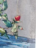 Watercolour Pink Roses Listed Artist Donald Greig FRSA RSMA (Free Shipping to Mainland England) (7 of 7)