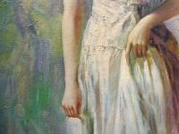 Oil on Canvas Portrait of a Young Girl Royal Academy Artist John Streven (Free Shipping to Mainland England) (8 of 9)