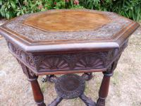 Heavily Carved Oak  Occasional Table 1800 (Free Shipping to Mainland England) (3 of 9)
