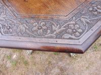 Heavily Carved Oak  Occasional Table 1800 (Free Shipping to Mainland England) (4 of 9)