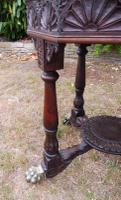 Heavily Carved Oak  Occasional Table 1800 (Free Shipping to Mainland England) (7 of 9)
