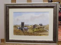Watercolour & Ink St Davids Cathedral 1970s Listed Artist Ronald Birch (Free Shipping to Mainland England) (5 of 8)