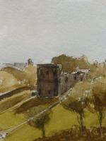 Watercolour & Ink St Davids Cathedral 1970s Listed Artist Ronald Birch (Free Shipping to Mainland England) (6 of 8)