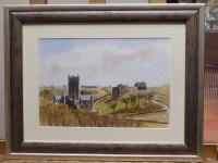 Watercolour & Ink St Davids Cathedral 1970s Listed Artist Ronald Birch (Free Shipping to Mainland England) (8 of 8)