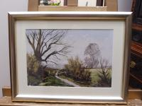 Watercolour & Ink Laycock Wiltshire Listed Artist Ronald Birch 1976 (Free Shipping to Mainland England) (3 of 8)