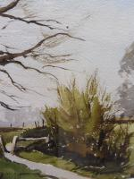 Watercolour & Ink Laycock Wiltshire Listed Artist Ronald Birch 1976 (Free Shipping to Mainland England) (4 of 8)