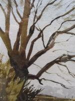 Watercolour & Ink Laycock Wiltshire Listed Artist Ronald Birch 1976 (Free Shipping to Mainland England) (6 of 8)