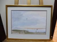 Watercolour the Orwell Looking from Pin Mill Listed Artist John Powley Wapping Group of Artists (Free Shipping to Mainland England) (7 of 10)