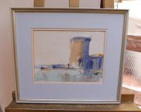 Watercolour Martello Tower Listed Artist John Powley (Free Shipping to Mainland England) (3 of 10)