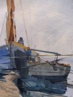 Watercolour Seascape Boats Listed Artist John Powley (Free Shipping to Mainland England) (4 of 10)