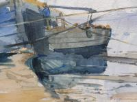 Watercolour Seascape Boats Listed Artist John Powley (Free Shipping to Mainland England) (8 of 10)