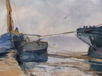 Watercolour Seascape Boats Listed Artist John Powley (Free Shipping to Mainland England) (10 of 10)